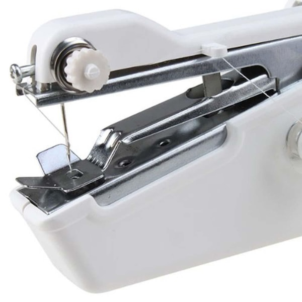 Bärbar Mini Symaskin Handy Quick Stitch Tool Vit