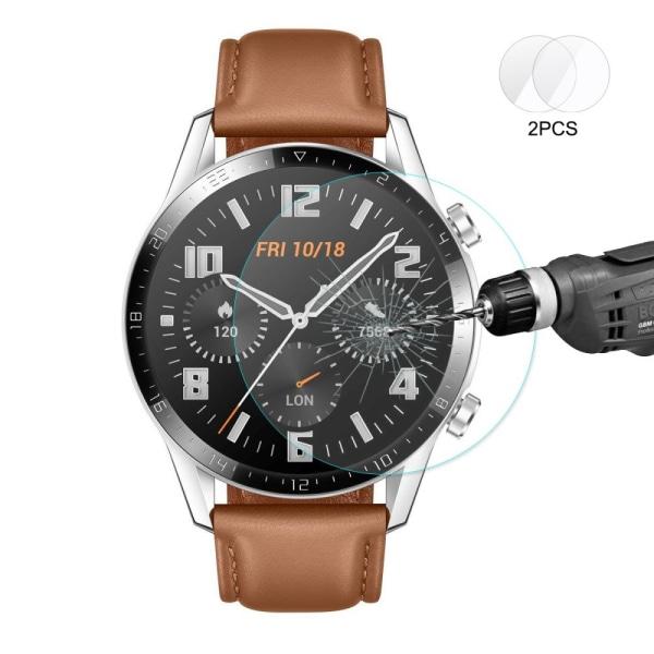 Huawei Watch GT2 46mm HAT PRINCE 2-pack Härdade Glas 0.2mm Transparent