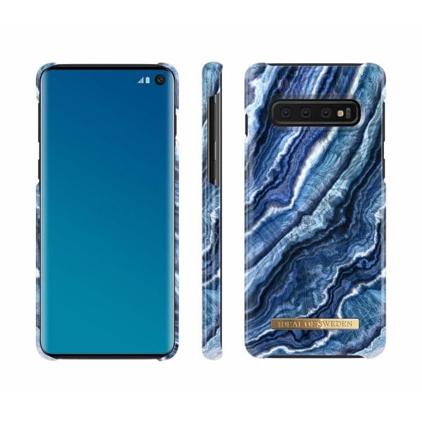 iDeal Of Sweden Samsung Galaxy S10 - Indigo Swirl Blå