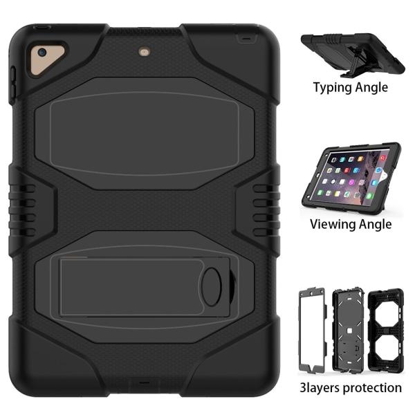 iPad 9.7 (2018) / iPad 9.7 (2017) Silicone Armor Defender skal - Svart