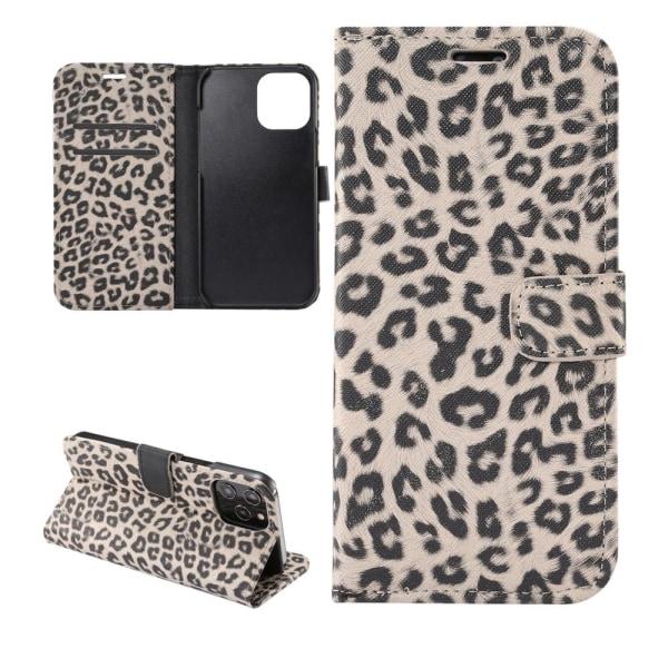 iPhone 12 / 12 Pro Plånboksfodral Fodral Leopard - Beige Beige