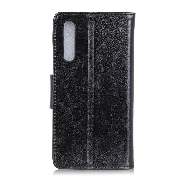 Sony Xperia 10 II Plånboksfodral Textured Split - Svart Svart