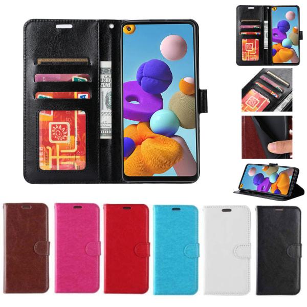 Plånboksfodral Samsung S20 FE |LÄDER |3 kort +ID| ALLA FÄRGER svart