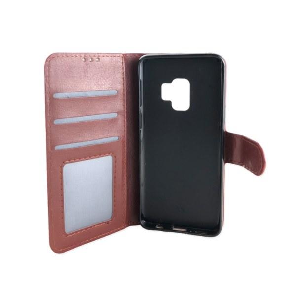 Plånboksfodral Samsung S9 PLUS +  LÄDER  3 kort +ID  ALLA FÄRGER svart