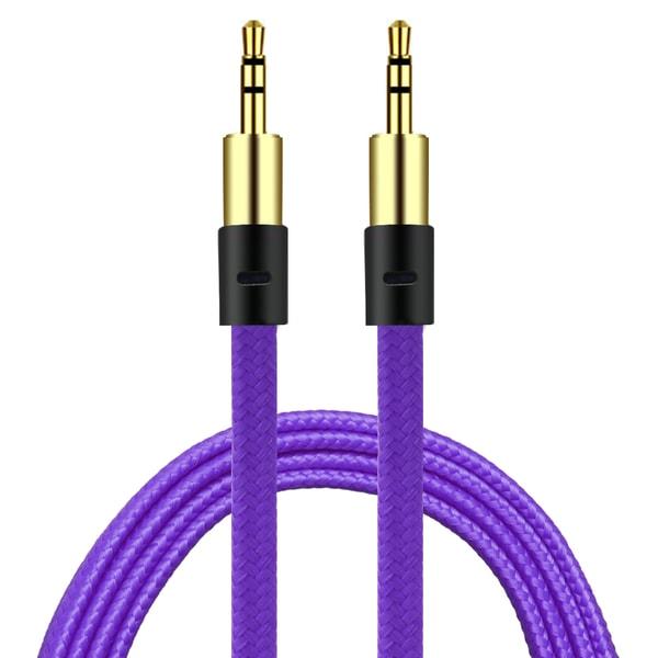 AUX Kabel 3.5mm  | Guld pläterad | Hög kvalité & slittålig kabel Svart