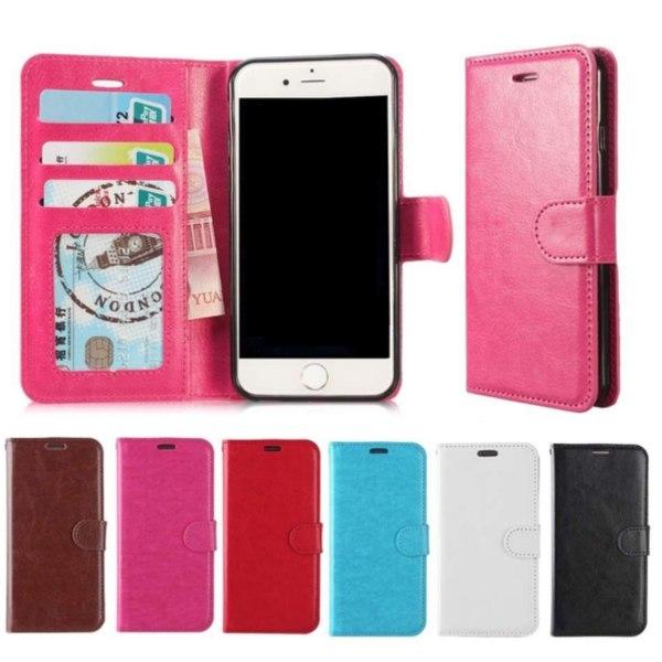 Plånboksfodral iPhone 6 / 6s | Läder | 3 kort + ID | ALLA FÄRGER röd