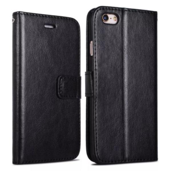 Plånboksfodral iPhone 8 PLUS +| Läder | 3 kort + ID| ALLA FÄRGER svart