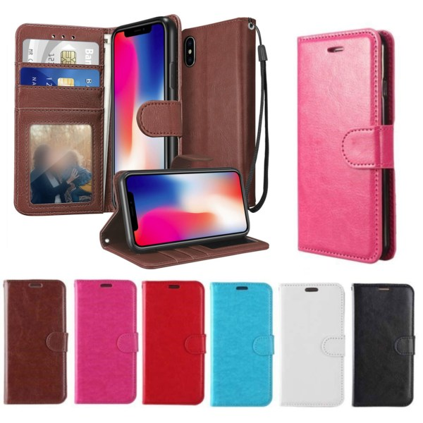 Plånboksfodral iPhone Xr | Läder | 3 kort + ID| ALLA FÄRGER svart