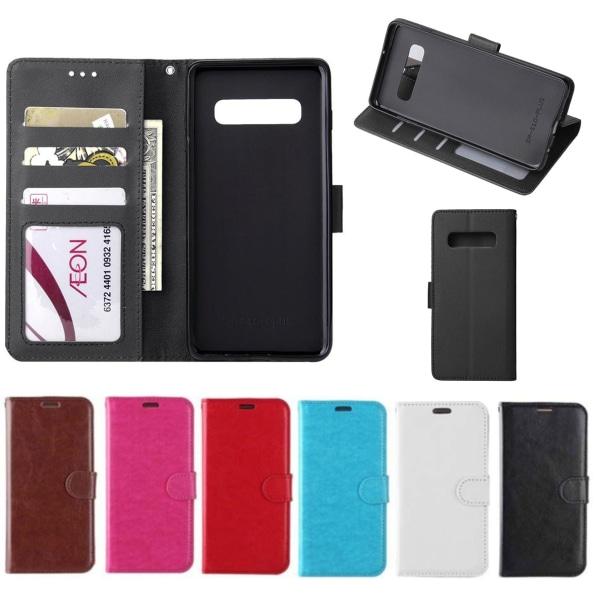 Plånboksfodral Samsung Galaxy S10E |SLITSTARK - ALLA FÄRGER svart