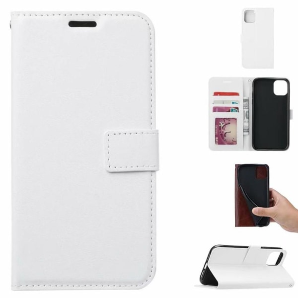 Plånboksfodral till iPhone 11 Pro MAX - Läder - 3 kort + ID vit