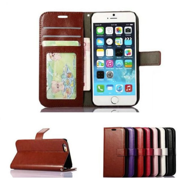 Plånboksfodral till iPhone 6 / 6s  SLITSTARK & Tålig ALLA FÄRGER svart