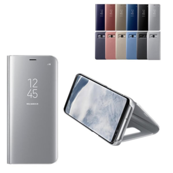 Samsung S8 PLUS + Exklusivt Fodral / Flip Cover - Clear View silver