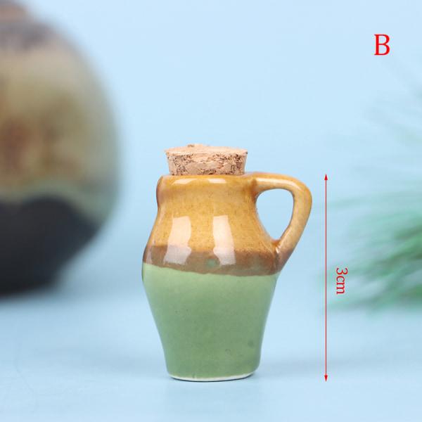 1:12 Dollhouse Miniature Ceramic Jar Seasoning Jar Kitchen Toy