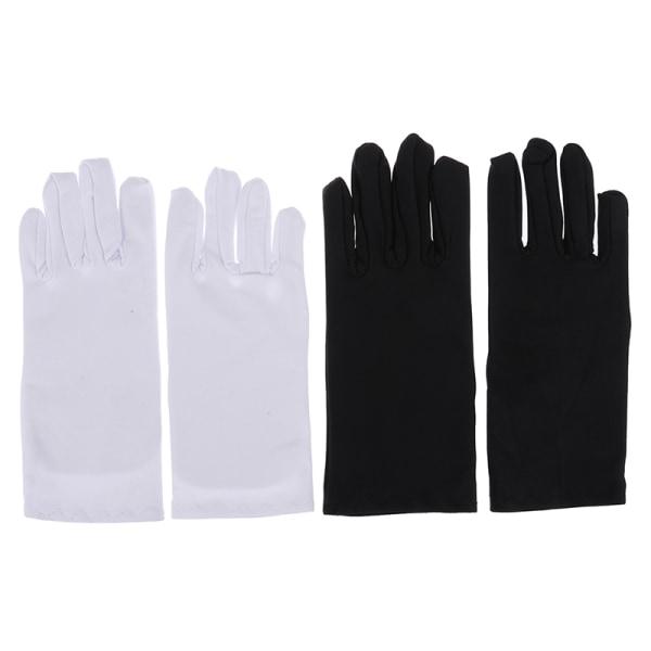 1 par bomullshandskar khan tyg massiva handskar ritualer spela vit White