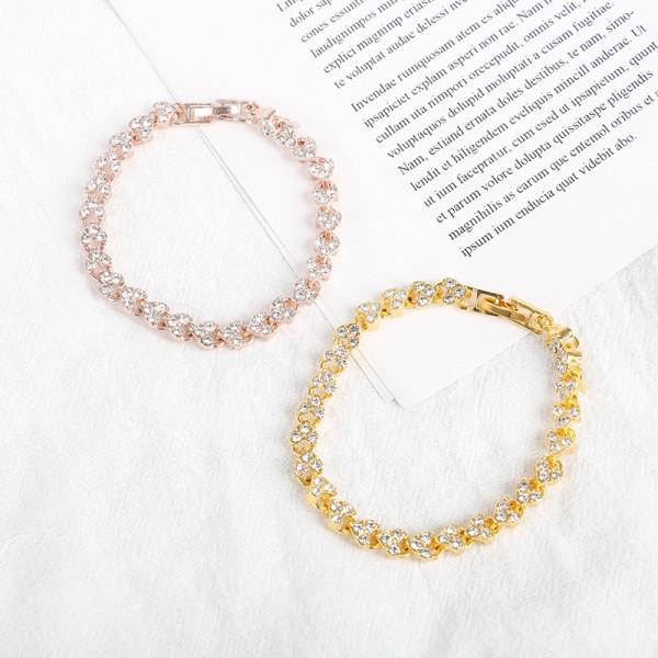 1 st Charm Crystal Armband kedja brud bröllopsgåva för kvinnor