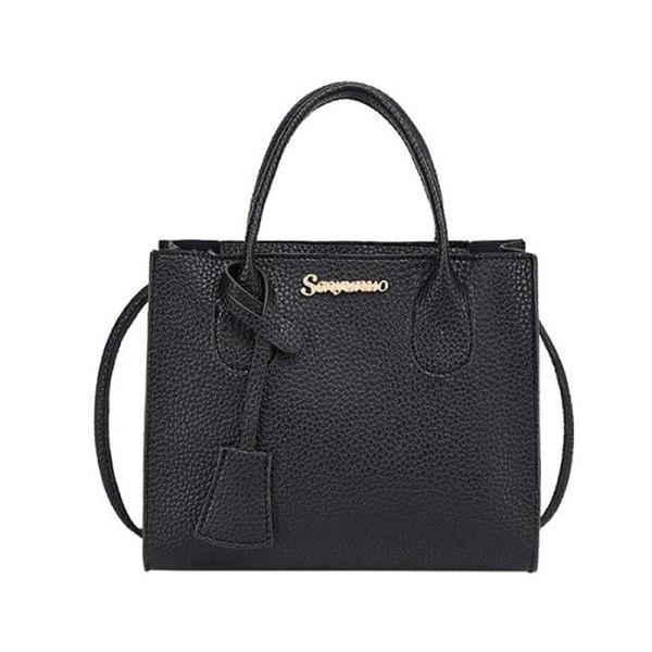 1 st n kvinnor sling bag crossbody väska axelväska casual pu Black