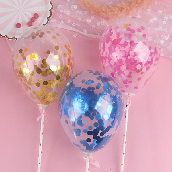 1 st rund konfetti ballong grattis på födelsedagstårta topper dekor del Pink
