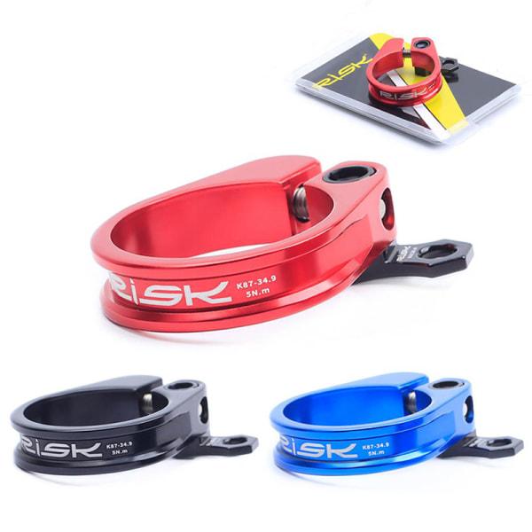 1 st ultralätt cykelstolpklämma för 31,8 / 34,9 mm sadelstolpe Black 34.9-black