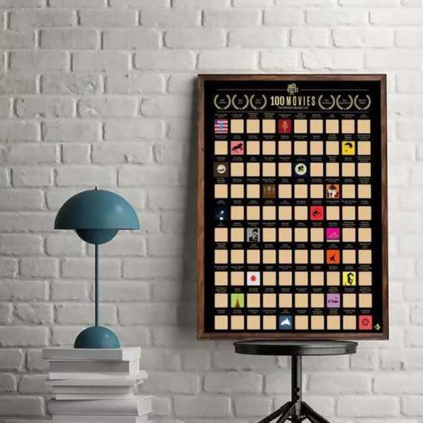 100 filmer skrapar affisch 100 måste-se filmer De bästa filmerna av A