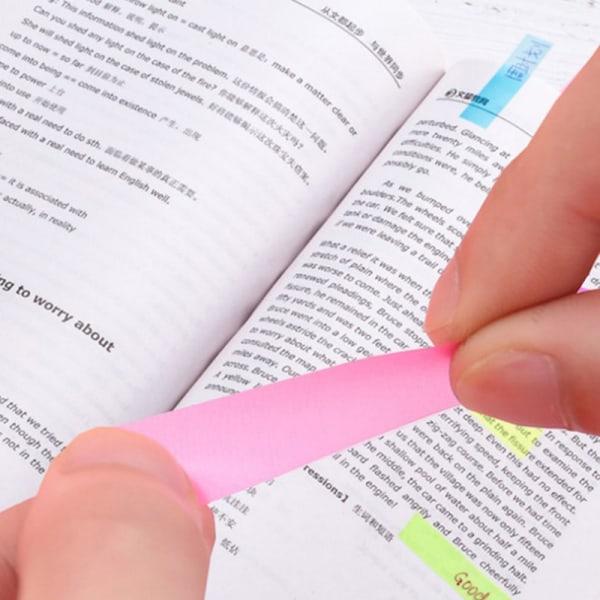 100 ark, tvåfärgat fluorescerande papper, självhäftande anteckningsblock S