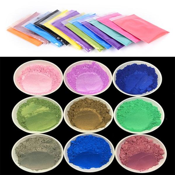 10g DIY Mineral Mica Powder Soap Dye Glittering Soap Colorant P
