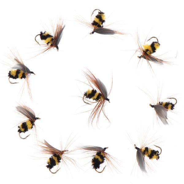 10st Bionisk honungsbi flugfiske bete Artificiell insekt bete F.