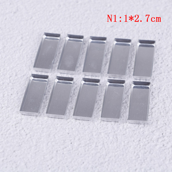 10st / set Fyrkantig tom ögonskuggpalett pulverbehållarförvaring r