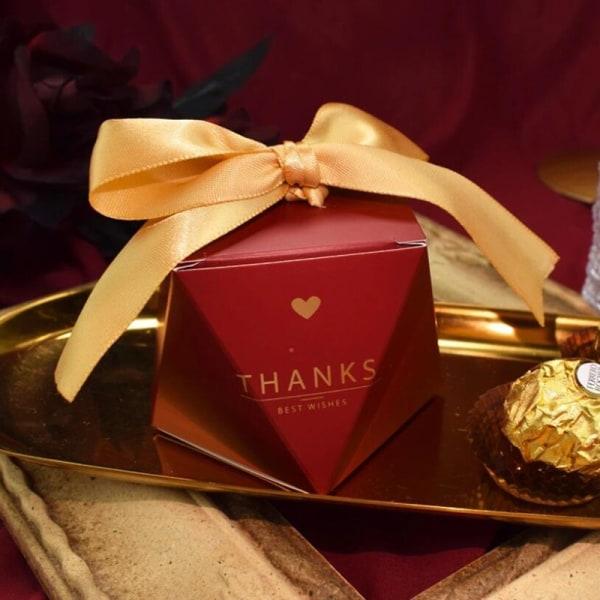 10st bröllop choklad godislådor baby dusch gåva favorlådor