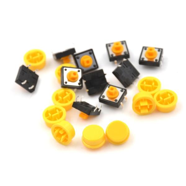 10st B3F-4055 Taktil Switch med Keycap Tact-tryckknapp Momenta 0 12*12*7.3mm