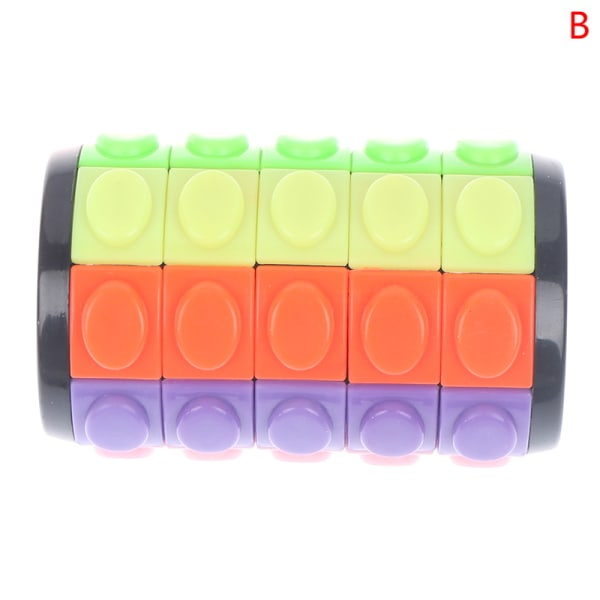 1st Tower Stress Cube Puzzle Puzzle Cube Color Cylinder Glidande Pu