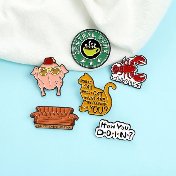 1pc tv-show samling kreativitet emalj pin märke för ryggsäck C