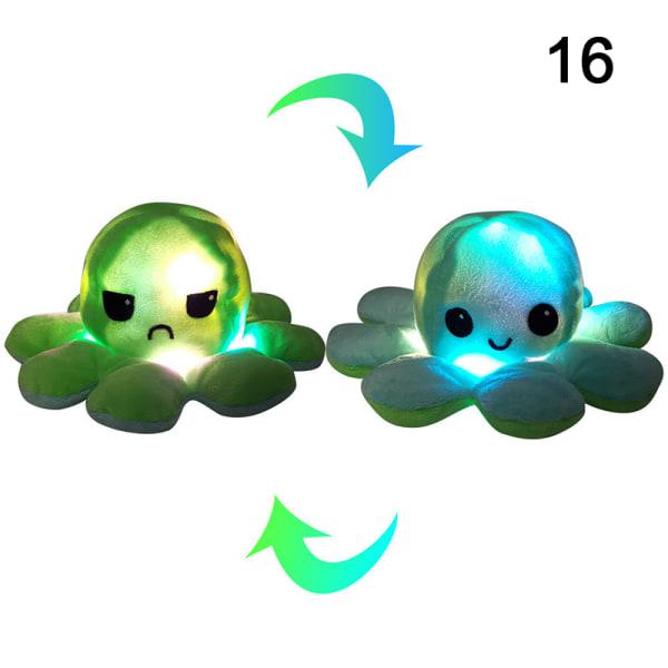 1x bläckfiskdocka känslomässigt ansikte byter dubbelsidig vändning