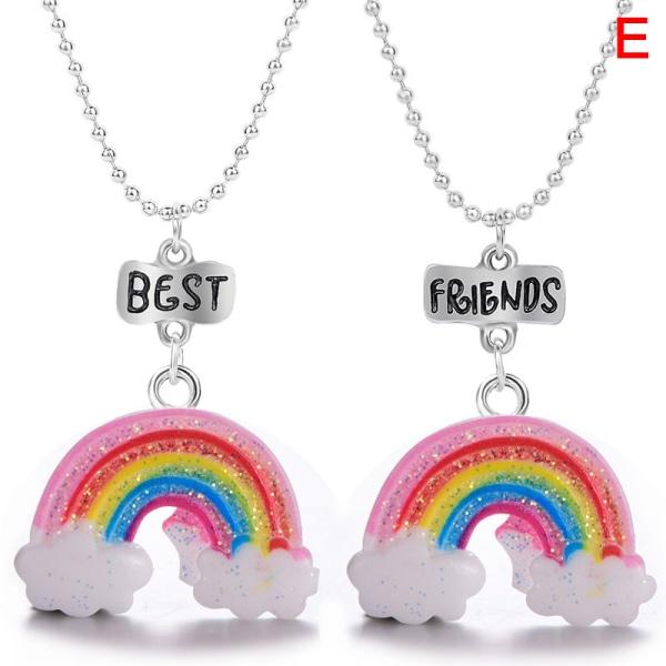2021 bff färgglada hänge halsband bästa vänner halsband vänner