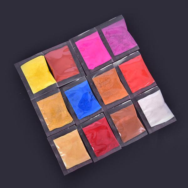 20Färg 1g Läppglans Glimmerråvara Pigment för läppar Glans D