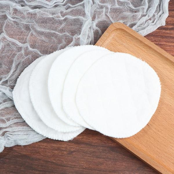 20st återanvändbara bomullsdynor tvättbara sminkborttagningsdynor mjukt ansikte White