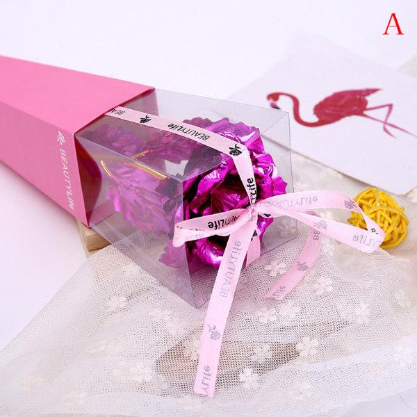 24k guld ros blomma lång stjälk gyllene doppad blomma valentine ''