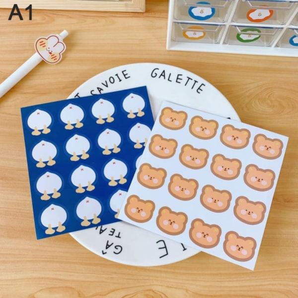 2st / påse tecknad björn klistermärke flicka laddad hand konto klistermärke