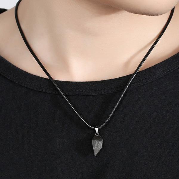 2st magnetiska par halsband älskare hjärta hänge charm halsband