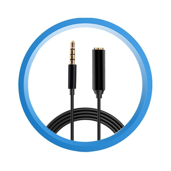 3,5 mm förlängningssladd för mikrofon 2 m förlängningskabel för mikrofoner för