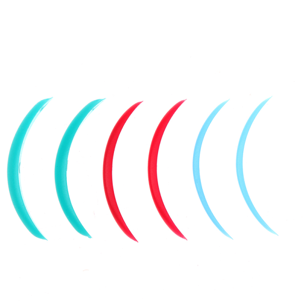 3 par ögonfransrullare Silikonögonfransar Perm Pad Recycling Eyel