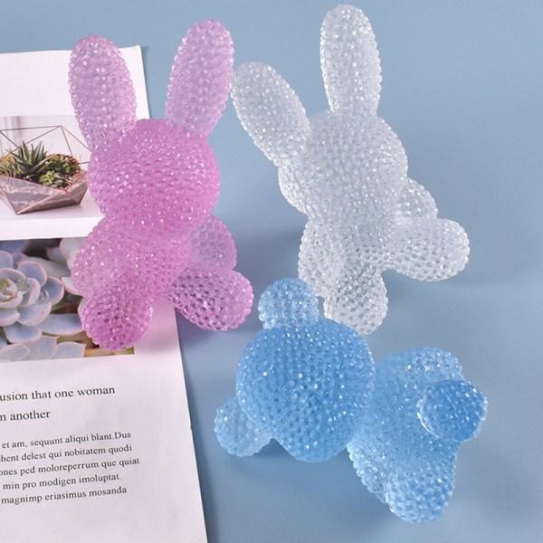 3D Diamond Bear Silikonform Kawaii Clear Resin Mold Hem Dec