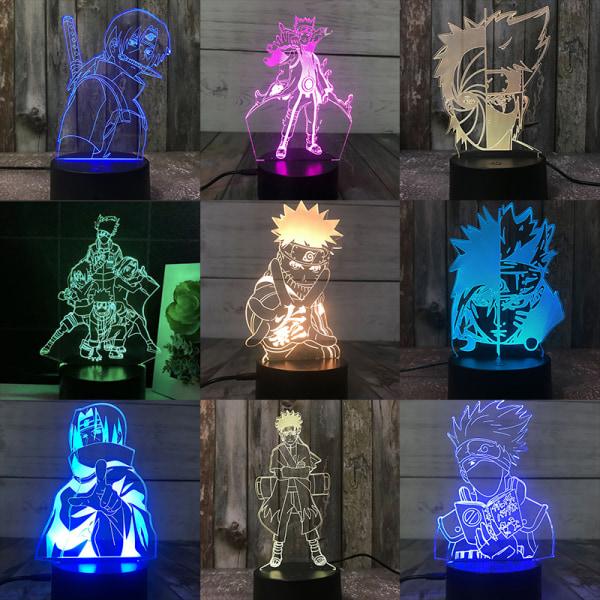 3D Night Lights Naruto Team Uzumaki Naruto Sasuke Sakura Figur