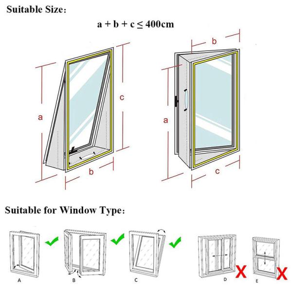 4 m luftslussförsegling bärbar mobil luftkonditioneringsfönster Seali