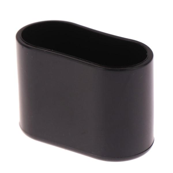 4st ovala stolskuddar möbelbord täcker kepsar fötter skydd Black 20X40MM