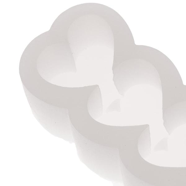 5 hål hjärtformad kolonnformad ljusform diy aromaterapipasta one size