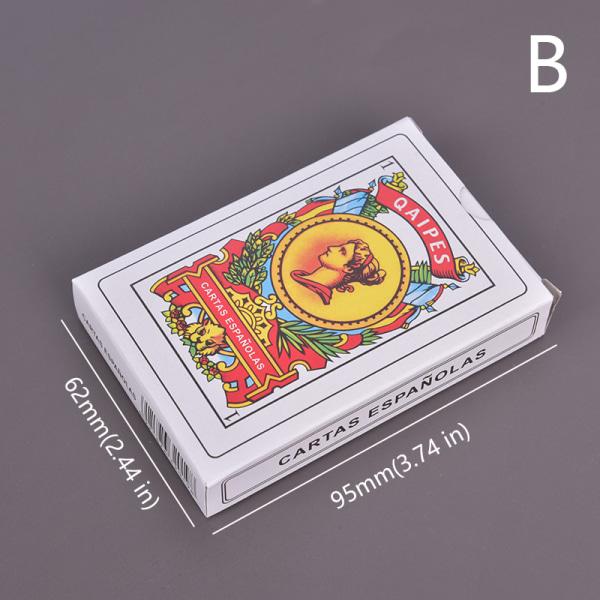 50 kort spanska spelkort magiska rekvisita familjefestbräda ga 62*95mm