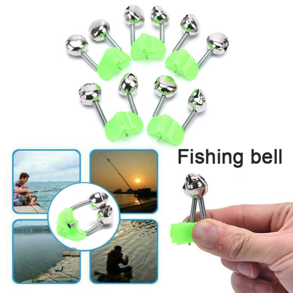 5st Night Fishing Twin Rod Clamp Bell Ring Bite Alarm Tackle Ac