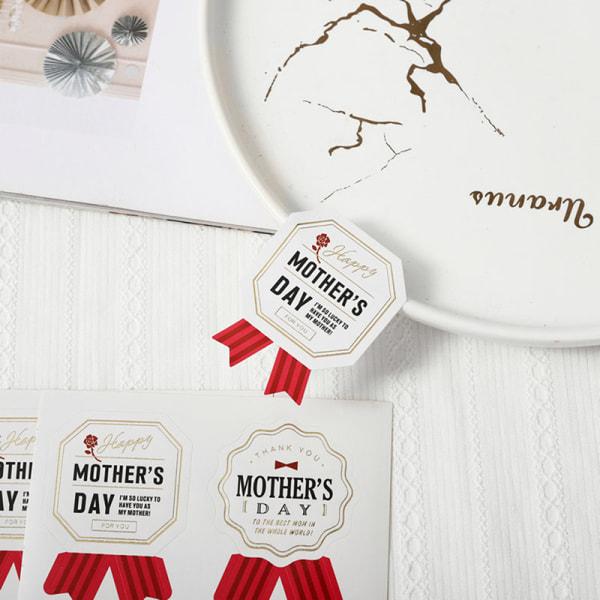 60st / uppsättning Presentförpackningsväska Seal Etiketter mors dag Dekorativ klistermärke