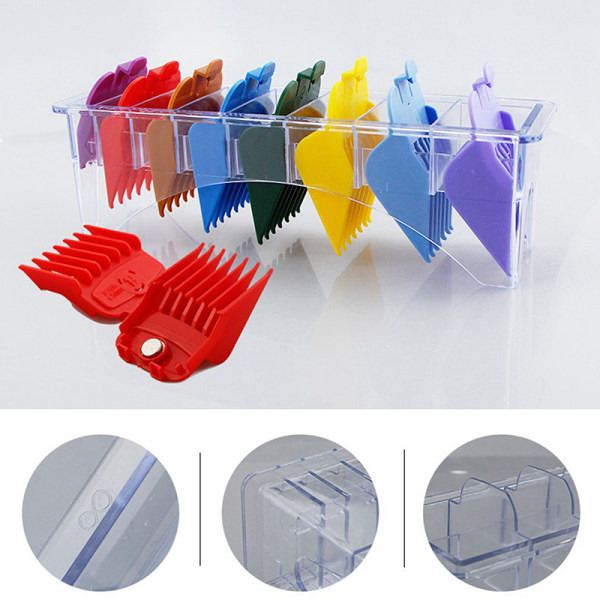 8/10 Grid Universal Hair Clipper Limit Comb Storage Holder Guid