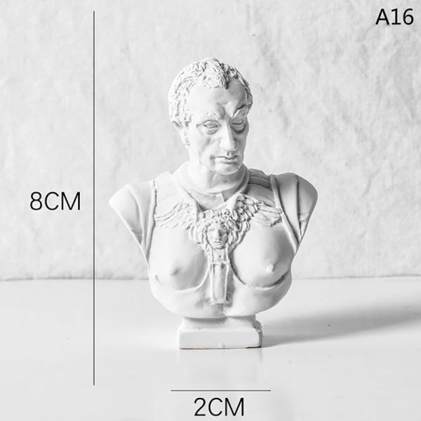 8 cm nordisk stil grekisk mytologi statyett gipsporträtt minia A16